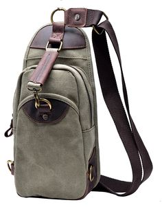 Gootium 21105 Vintage Canvas Sling Bag Chest Pack Unbalance Backpack ^^ See this great image  : Backpack