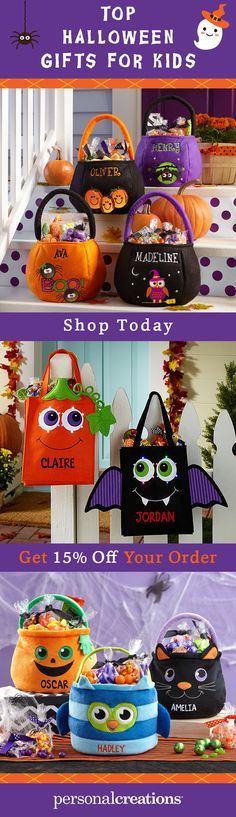 Give them their very own bag so there's no question who the candy belongs to. Our treat bag collection is a treat for kids of all ages. Get 15% off your order today.