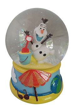 "super cute Disney Olaf waterglobe snowglobe will be sure to melt her heart! Plays ""let it go"" Product Features  5.625''H x 4.125''W x 4.125''D , Glass, resin, p"