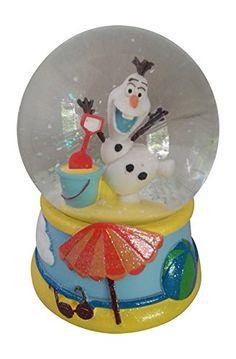 Disney Frozen Olaf Musical Snowglobe with Beach Summer Scene
