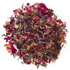 Serenity Now from David's Tea. Herbal tea with strawberry, hibiscus, rosehips and lavender. ($9.50/2oz)