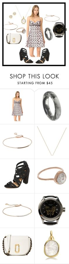 """""""Simple mini dress"""" by paige-brrian ❤ liked on Polyvore featuring Giambattista Valli, Dinosaur Designs, Monica Vinader, Schutz, John Isaac, Marc Jacobs, fabulous and fashionset"""