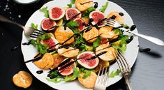 » Fikoncarpaccio med parmesanpuffar – recept – Allt om Mat