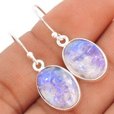 Rainbow-Moonstone-925-Sterling-Silver-Earrings-Jewelry-SE83166