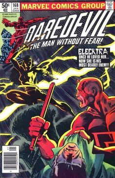 Daredevil #168 First Appearance of Elektra and Frank Miller enters the world of super heroes and saves this title.