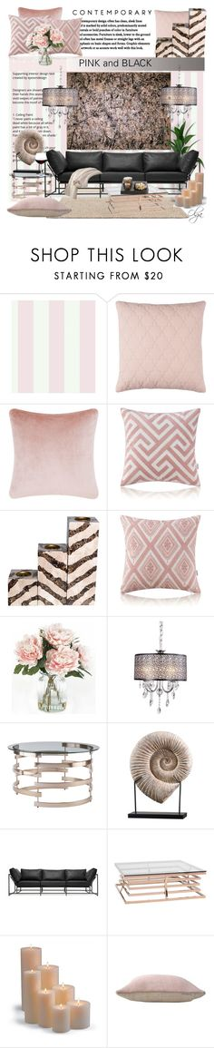 """""""Lavender Mist 2"""" by olga1402 ❤ liked on Polyvore featuring interior, interiors, interior design, home, home decor, interior decorating, York Wallcoverings, Tom Dixon, Home Decorators Collection and Stephen Kenn"""