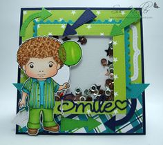 From our Design Team! Card by Suzanne Kohler featuring Luka with Balloon and these Dies  - Build-a-frame Stitched Large, Double Stitched Squares, Postage Stamps, Smile, Arrows and Bracket from Club La-La Land January 2016  :-) Shop for our products here - shop.lalalandcrafts.com Coloring details and more Design Team inspiration here - http://lalalandcrafts.blogspot.ie/2016/06/inspiration-friday.html