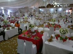 My white and red wedding decor Red Wedding Decorations, Table Decorations, Apple Red Wedding, Wedding Ceremony, Wedding Gowns, African Culture, Red Apple, Marriage, Weddings