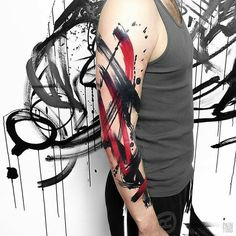 Sleeve tattoo by Szymon Gdowicz ( from Krakow, Poland - Tattoo MAG Tattoos For Dog Lovers, Tattoos For Guys, Men Tattoos, Best Sleeve Tattoos, Body Art Tattoos, Geometric Universe Tattoo, Geometric Tattoos, Wolves Tattoo, Tattoo Arm Mann