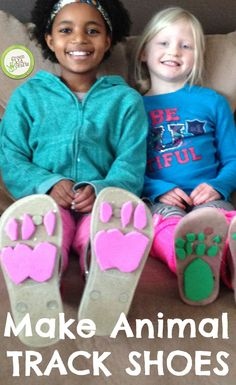 Make shoes meant to mimic the footprints of animals! This is a surprisingly easy and super-fun project.
