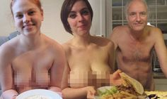 The real naked chefs! Crazy web craze sees participants shun meat, dairy products and their clothes
