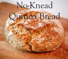 For this recipe I used the Artisan Free Form No-Knead Bread recipe as a starting. For this recipe I used the Artisan Free Form No-Knead Bread recipe as a starting point. Quinoa Flour Recipes, Yeast Bread Recipes, Quinoa Bread Machine Recipe, Brewers Yeast Bread Recipe, Foods With Gluten, Sans Gluten, Gluten Free Baking, Gluten Free Recipes, Gluten Free Whole Grain Bread Recipe