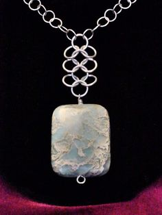 Sterling Silver Chain with Chainmaille and by ChavarriaDesigns, $48.00