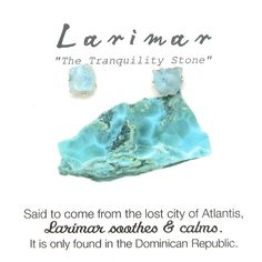 Sterling silver stud earrings feature organically shaped, raw Larimar. Some consider uncut, raw gemstones to carry the purest form of that stone's energy. Studs measure approximately .25 inches long. Larimar: Coming from only one place in the world, Larimar can only be found in the Dominican Republic. Some claim the stone is from the ancient Lost City of Atlantis and has a soothing and calming effect for whoever wears it. The natural blue-hued pattern recalls the pattern of sunlight through…