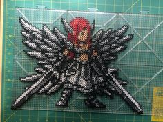 Erza Heaven's Wheel Armor - Fairy Tail perler beads by TehMorrison