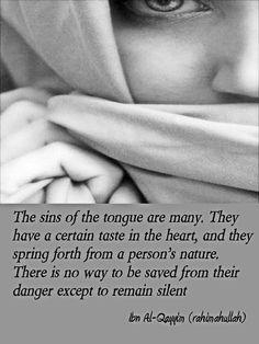 The sins of the tongue | ibn al-Qayyim