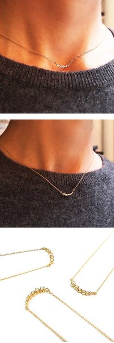 """✨Diamond Shooting Star Necklace (N066) has an adjuster in the chain. It can be worn as 16"""" and also one inch shorter as 15"""". Please see more details @ our website. . . #necklace #diamondnecklace #handmadejewelry #madeinnyc #adjustable #tribeca"""