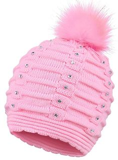 d55cf7a2dd9 EPGM Women s Thick and Warm Knit Winter Pompom Beanie Hat w Sequins Review