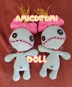 AMIGURUMI DOLL: Scrump the Voodoo Doll (Lilo & Stitch) ~ **FINISHED_PRODUCT**