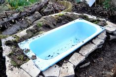 Instead of hauling that old sink to the tip... >> Bath tub pond garden wildlife upcycle recycle