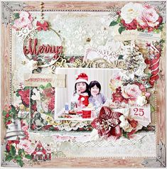 with colors: Blue Fern Studios Vintage Christmas