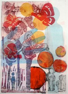 'Pieces of me'  Monoprint by Sophie Fordham