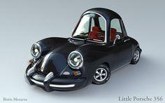 Little Porsche 356 on Behance ★ Find more at http://www.pinterest.com/competing