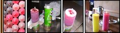 Make candles out of pringles tubes :)