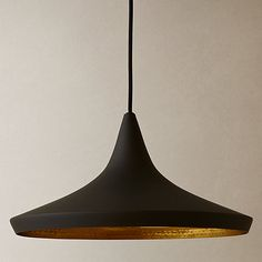 Buy Tom Dixon Wide Beat Pendant, Black Online at johnlewis.com