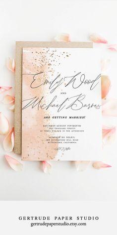 Invitations de mariage Shabby Chic Modèles de bricolage mini