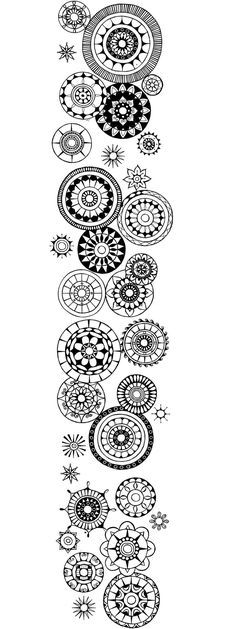 so many simple mandalas on this page