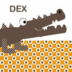 retro card, geboortekaartje krokodil, baby card, crocodile illustration, birth announcement with crocodile, ZotteZOO
