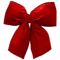 Vickerman 24-in. Red Velvet Structured Decorative Bow (€48) ❤ liked on Polyvore featuring home, home decor, holiday decorations, christmas, red, filler, outside home decor, red wreath, christmas holiday decorations and red home accessories