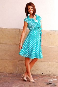 POLKA DOT Ruffle Wrap Dress from NoVae Clothing - I NEED this dress! So cute and vintage!