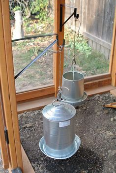 hanging-feeders More More #chickencoop