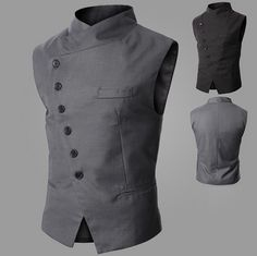 Look classy, elegant, and stylish with our side button vest in any occasions and start grabbing attention and compliments from people who care about fashion and trend.   unique-outfit.com