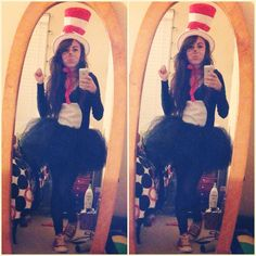 Pinterest inspired Cat In The Hat costume