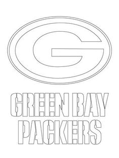 green bay packers logo coloring page - Football Printable Coloring Pages