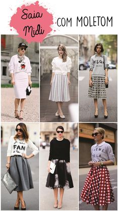 Look com moletom, look com saia, look saia midi, dicas de estilo, looks Long Skirt Fashion, Modest Fashion, Girl Fashion, Fashion Outfits, Womens Fashion, Fashion Trends, Jw Mode, Estilo Preppy, Paris Mode