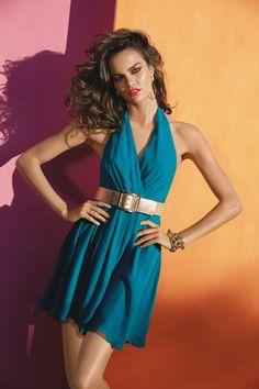 Model Barbara Fialho, photographer uncredited for Bebe, Spring / Summer 2013