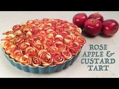 ROSE APPLE CUSTARD TART RECIPE by Ann Reardon How To Cook That ROSE DESSERT - YouTube