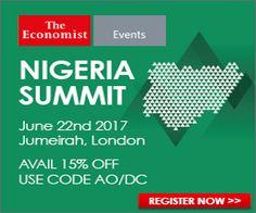 Register For The Economist Events' Nigeria Summit 2017