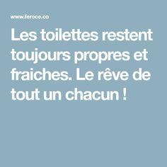 Les toilettes restent toujours propres et fraiches. Le rêve de tout un chacun !