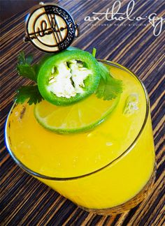 Sgt. Pepper  Creator: Erik Ridout  Honey Mango-Melon Vodka  Jalapeno  Agave Nectar  Mango Puree  Fresh Lime Juice  Lemon-Lime Soda  #recipes #vodka #drinks