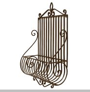 Wrought Iron Wall Plant Holder