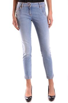 JACOB COHEN WOMEN'S MCBI160015O LIGHT BLUE COTTON JEANS -- Awesome products selected by Anna Churchill