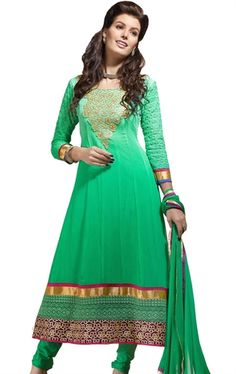 Picture of Appealing Green Color Wedding Salwar Suit