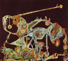 Charles Seliger (Manhattan, June 3 1926 - same, October 1 Don Quixote, 1944 Art For Art Sake, Cobra Art, Art Calendar, Lyrical Abstraction, Painting, Intuitive Art, Art, Book Art, American Artists