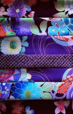 Japanese kimono textile