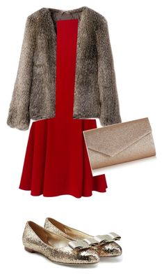 """""""All I want for Christmas is you"""" by iknewherwhen on Polyvore featuring Dolce&Gabbana, Salvatore Ferragamo and Accessorize"""